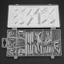 200pcs/Set Extension Tension Compression Spring Assortment Metal Springs Kit spring bar tool цены онлайн