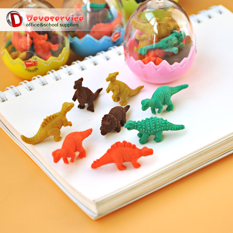 Animal Dinosaur Shape Pencil Eraser For Kids Student Prizes Rubber Erasers Promotional Gift Stationery Material Escolar Borracha