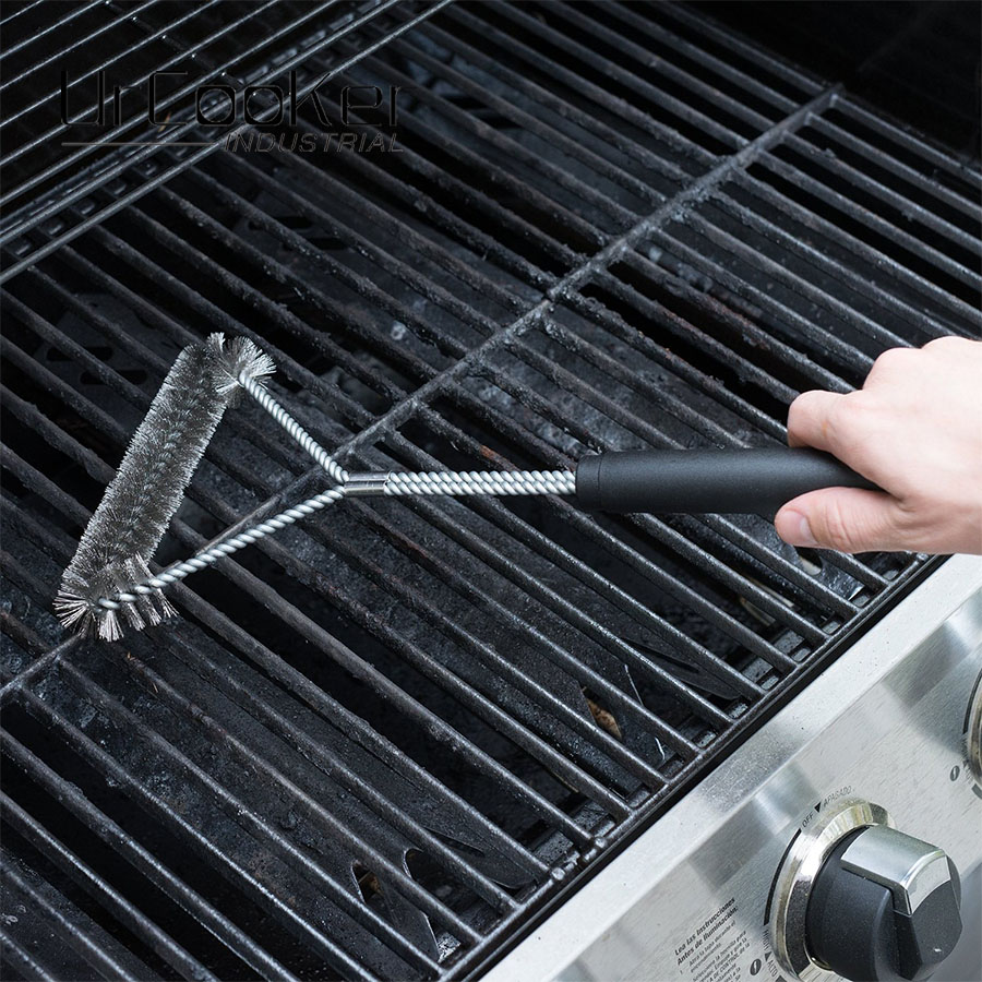 Heavy Duty BBQ Accessories Grill Cleaning Brush Handle