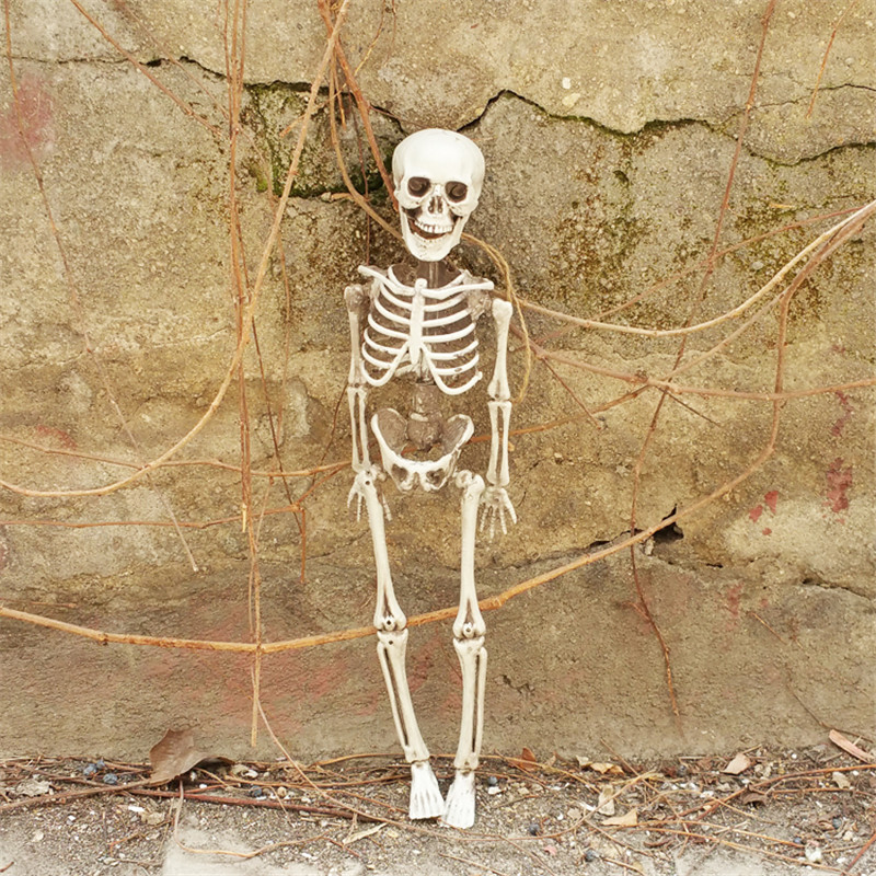 Small Size Skeleton 100% Plastic Halloween Props Grave Yards Hunted House Decorations