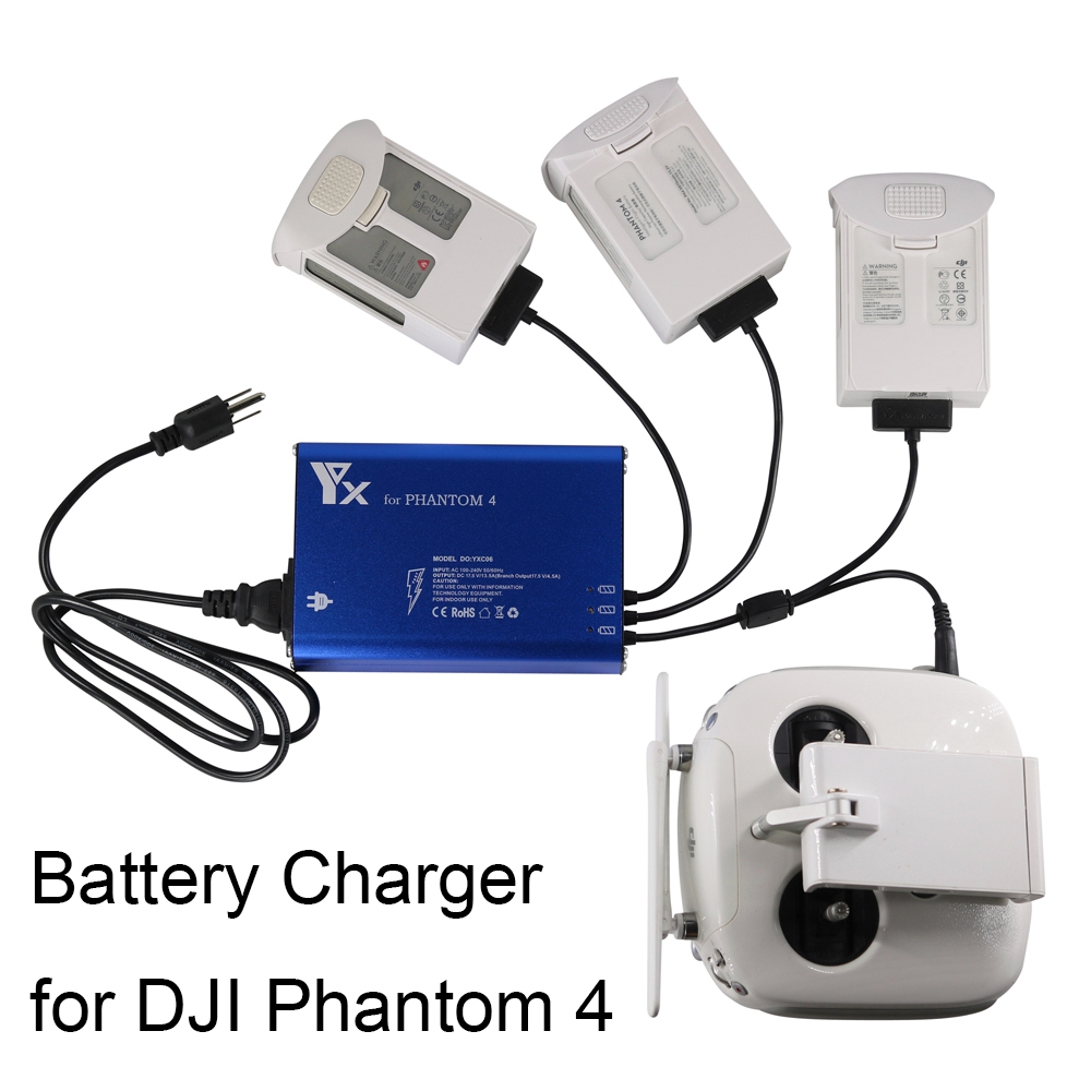 4 in 1 Phantom 4 Charger Quick Intelligent Charging HUB For DJI Phantom 4 pro Advanced V2.0 Drone Remote Control battery Manager стоимость