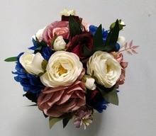 Peony Bridal Bouquet, Silk Blush Vintage Wedding flowers Rustic  Chic bouquet Bride Bridesmaid mariage