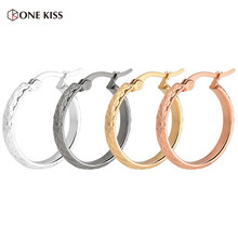 Korean Fashion Gold Silver Big Thick Circle Hoop Earrings for Women Simple Grid Texture Geometric Ear Earing Minimalist Jewelry(China)