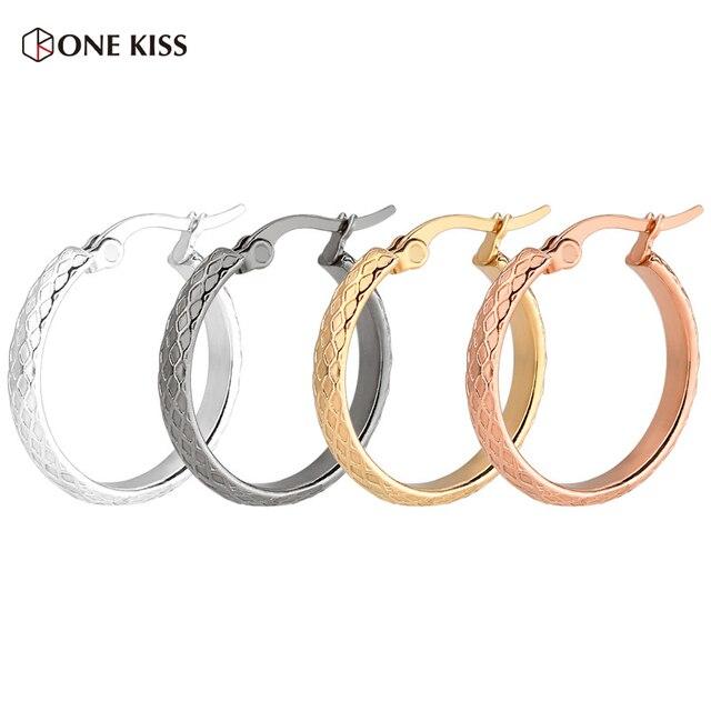 2d02083bef7c Plata del oro de la manera coreana grande gruesa círculo aro pendientes para  las mujeres Simple
