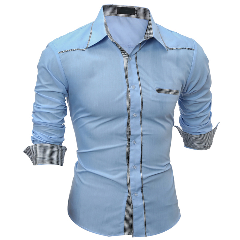 Vska Men Long Sleeve Leisure Cotton Linen Fashion Linen Dress Shirts Top