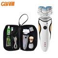 Canfill 3d flotador super bowl maquinillas de afeitar eléctricas para viaje de negocios de los hombres amante maquinillas de afeitar de triple hoja de afeitar eléctrica recargable usb