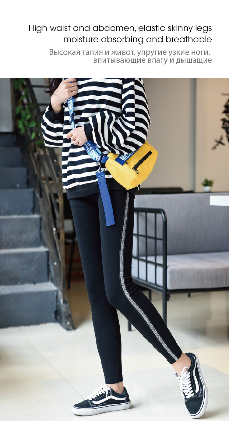 2019 New Fashion Women's Spring And Autumn High Elasticity And Good Quality Slim Fitness Capris Streetwear Leggings Cotton Pants 76