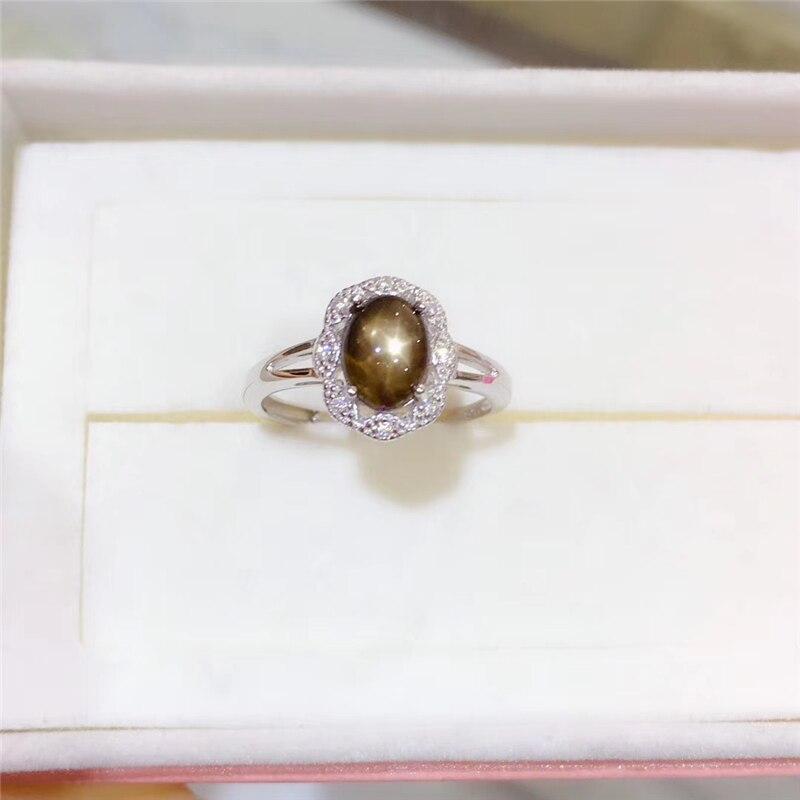 Bague élégante en saphir étoile naturelle WEAINY, véritable argent Sterling S925, bijoux de qualité supérieure pour anniversaire de fête de pierres précieuses pour femme - 4