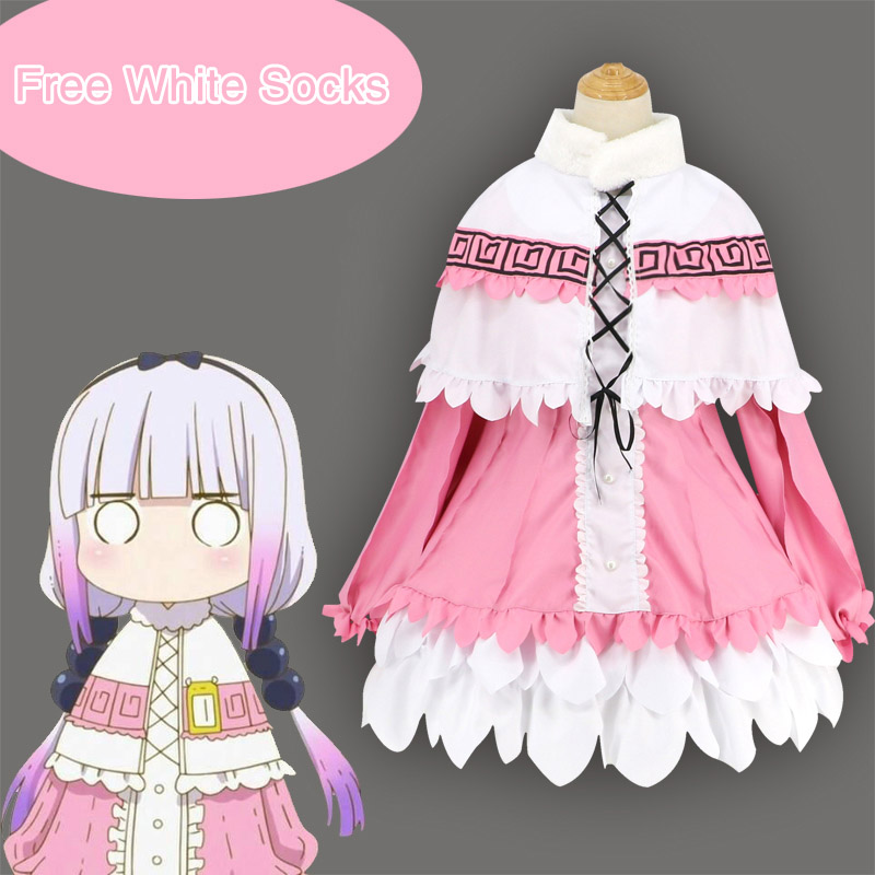 New Anime Miss Kobayashi's Dragon Maid Kanna Kamui Cosplay Costumes Kobayashi san Chi no Maid Dragon costume COSPLAYONSEN