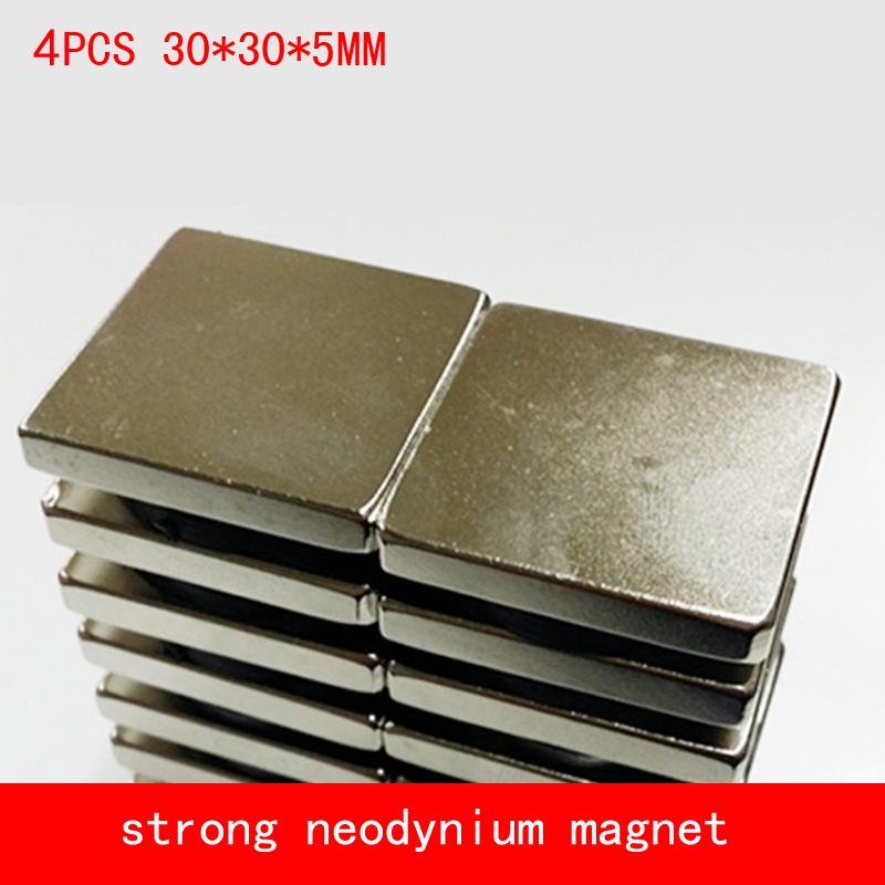 4PCS 30*30*5mm strong neodymium magnet magnets 30x30*5mm