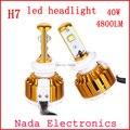 Frete grátis veículo H7 CONDUZIU Cabeça carro luz LED head lamp 40 w 4800lm H7 auto faróis dianteiros DC8V-48V 6000 K