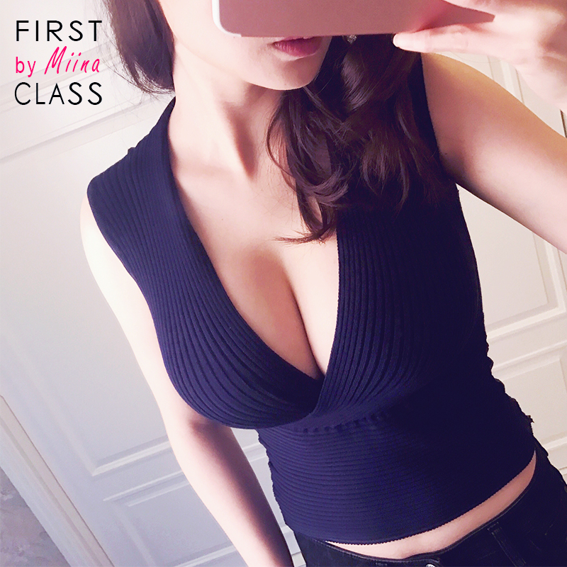 REAL PHOTO <font><b>Ribbed</b></font> <font><b>Knitted</b></font> <font><b>Tank</b></font> CropTop Sleeveless <font><b>Deep</b></font> <font><b>V</b></font> <font><b>Neck</b></font> Slim Fit Navy Blue Sexy women ladies 2017