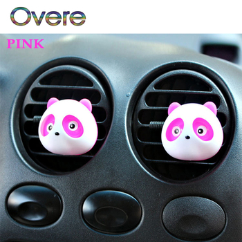 Overe 1Pair Car Air Outlet Perfume Panda styling For Kia Rio Ceed Cerato Sorento Mazda CX-7 6 Mini Cooper R56 F56 image