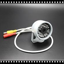1/4Cmos 1200TVL Hd מיני Cctv מצלמה חיצוני עמיד למים 24Led ראיית לילה קטן וידאו ניטור אבטחה
