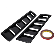 1Pair ABS Bonnet Hood Vent Louver Cooling Panel Trim Black Plastic Universal For Ford Mustang