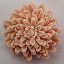 Силиконовые формы мыло Ручной Работы плесень пищевых формы красивая хризантемы форма плесень