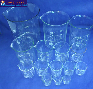 Image 5 - (2pieces/lot) SHUNIU Lab beaker 500ml,Glass beaker 500ml,Low form with graduation and spout Boro 3.3 Glass Chinese famous brand