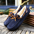 2016 Fashion Winter Soft Moccasins Men Loafers High Quality Brand Suede Leather Shoes With Fur Men's Flats Gommino Driving Shoes