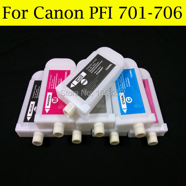 12 Color/Lot Refill Ink Cartridge For Canon PFI706 For Canon iPF9410 iPF8410 Printer Without Chips color ink jet cartridge for canon printers 821 820 series