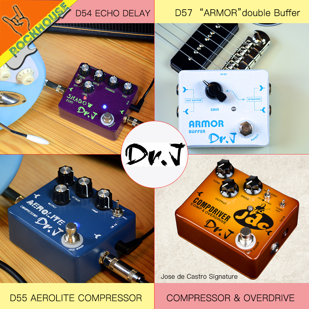 Dr.J Handmade Echo Delay Guitar Pedal Compressor Guitarra Effects pedal Overdrive Booster Stompbox True Bypass Free Shipping