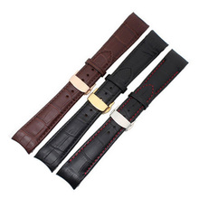 20 21 22 mm Curved End Genuine Leather Watchbands For Citizen For BL9002-37 Bracelet For 05A BT0001-12E 01A Watch Band Strap все цены