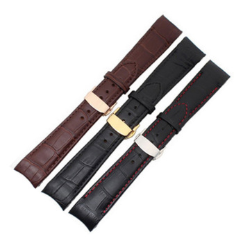 цена 20 21 22 mm Curved End Genuine Leather Watchbands For Citizen For BL9002-37 Bracelet For 05A BT0001-12E 01A Watch Band Strap онлайн в 2017 году