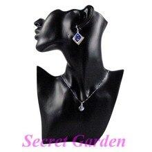 Оптовая продажа Высококачественная обувь черного цвета смолы ожерелье, серьги комплект украшений стенд держатель Бюст