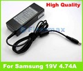 19V 4.74A AC power adapter for Samsung charger RV508 RV509 RV509E RV509I RV510 RV511 RV513 RV515 RV515l RV518 RV520 RV520E