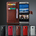 Luxury Newest M9 Wallet Cases For The HTC One M9 Hima PU Leather Flip Cover With Stand & Card Holders