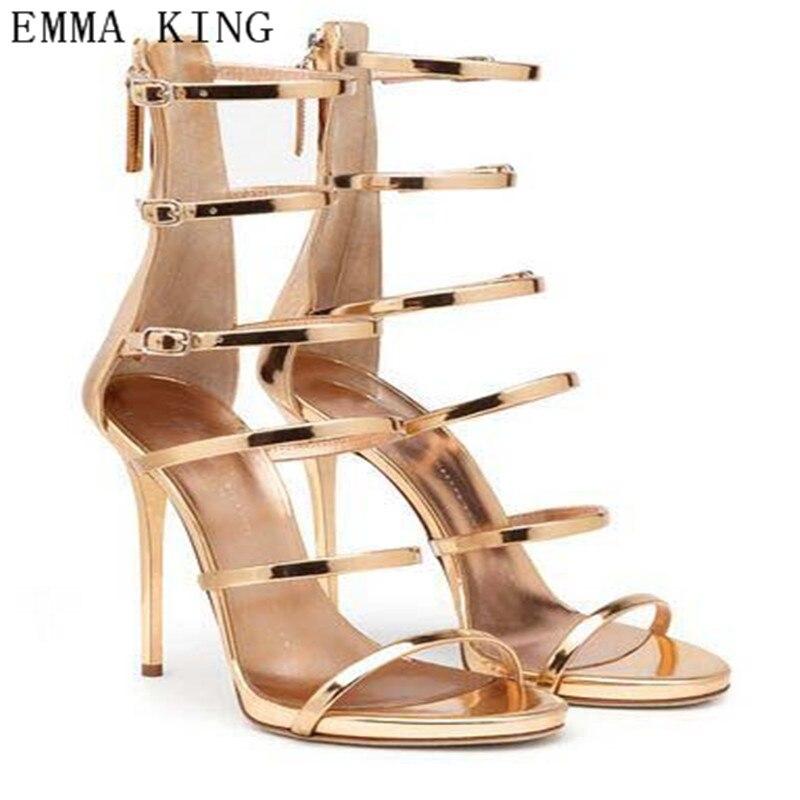 910885bf Stiletto De Europeas Nuevas Sandalias Tacones Zapatos Mujer Delgadas  Hebilla Altos As Picture Sexy Huecos Romanas 9HIE2DW