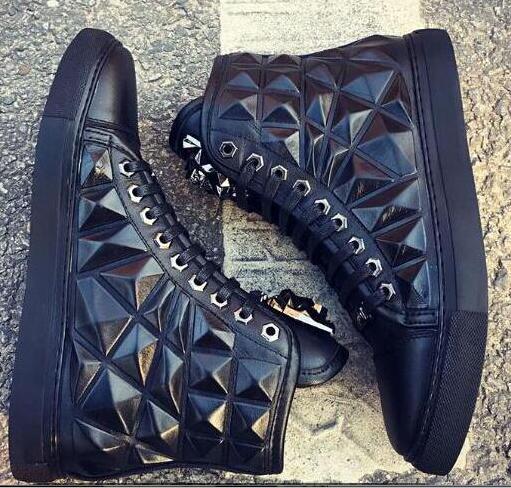 2018 Hot Sales High Top Black Diamond Bricks Height Increasing High Quality Lace-Up Casual Mens Fashion Men Shoes карабин black diamond black diamond rocklock twistlock
