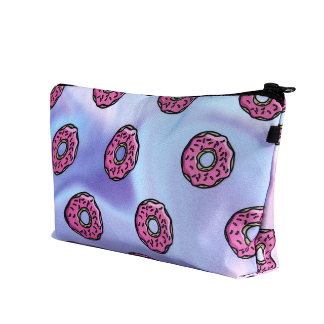 Printing Makeup Bags With Multicolor Pattern Cute Cosmetics Pouchs For Travel