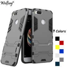 Купить с кэшбэком Wolfsay For Cover Xiaomi Mi 5x Case Shockproof Robot Armor Phone Case For Xiaomi Mi 5x Cover For Xiaomi Mi5 x  Mi 5 X Case Capa