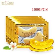 InniCare 1000pcs=500pairs Gold Crystal Collagen Eye Mask Pat