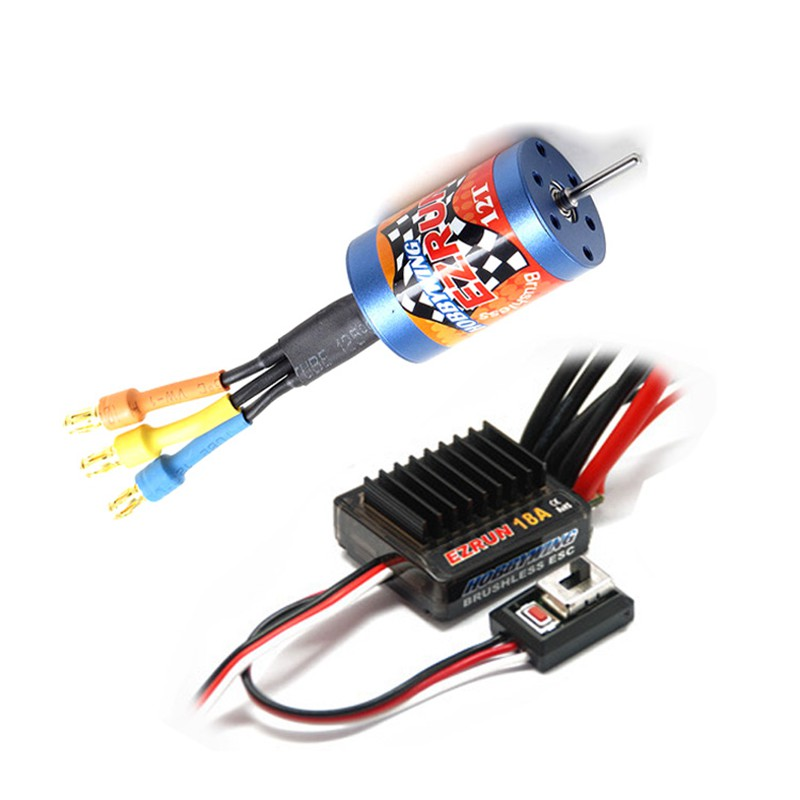 HobbyWing EZRUN 2030 12 T 7800KV 18 T 5200KV moteur brushless + 18A ESC combo pour RC 1/16 voitures mise à niveau