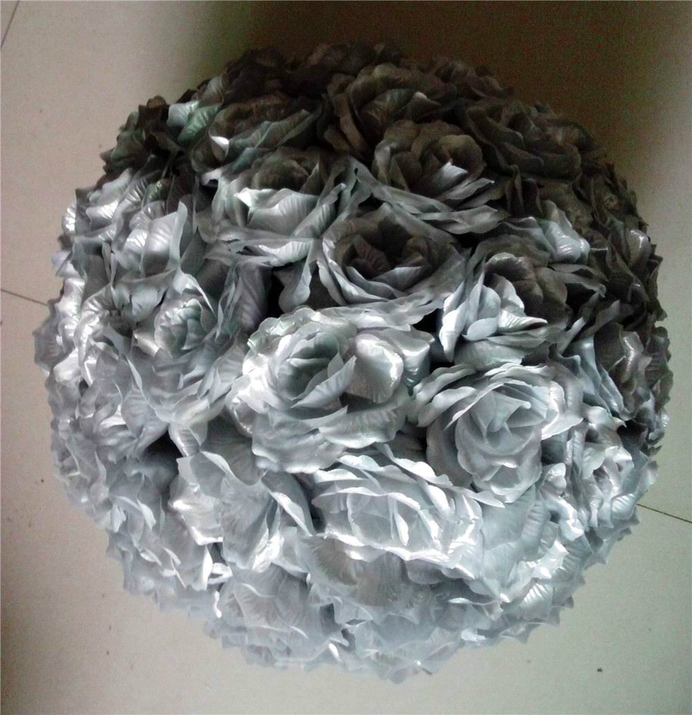 SPR 15pcs / lot Vânzări fierbinți 25cm SILVERY Diametru Silk - Produse pentru sărbători și petreceri