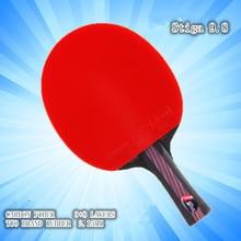 Hibrida Kayu 9.8 Jenama Kualiti Meja raket tenis double muka Jerawat-dalam getah biru Ping Pong Raket tenis de mesa