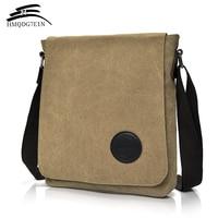 Hot High Quality 2017 Retro Men S Canvas Shoulder Bag Multi Compartment Men S Messenger Bag