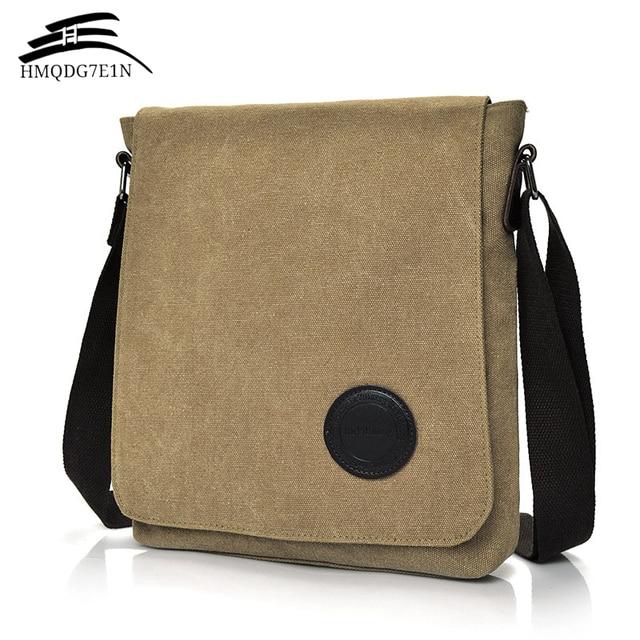 bf33efea5980 Hot High Quality 2018 Retro Men s Canvas Shoulder Bag Multi-compartment Men s  Messenger Bag Large