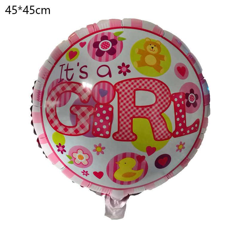 1st Sinh Nhật Trẻ Em Trang Trí Bên Ballon Hạnh Phúc Sinh Nhật 1 Đầu Tiên Baloon Foil Balloons Bé Tắm Cậu Bé Cô Gái Trẻ Em Helium bóng