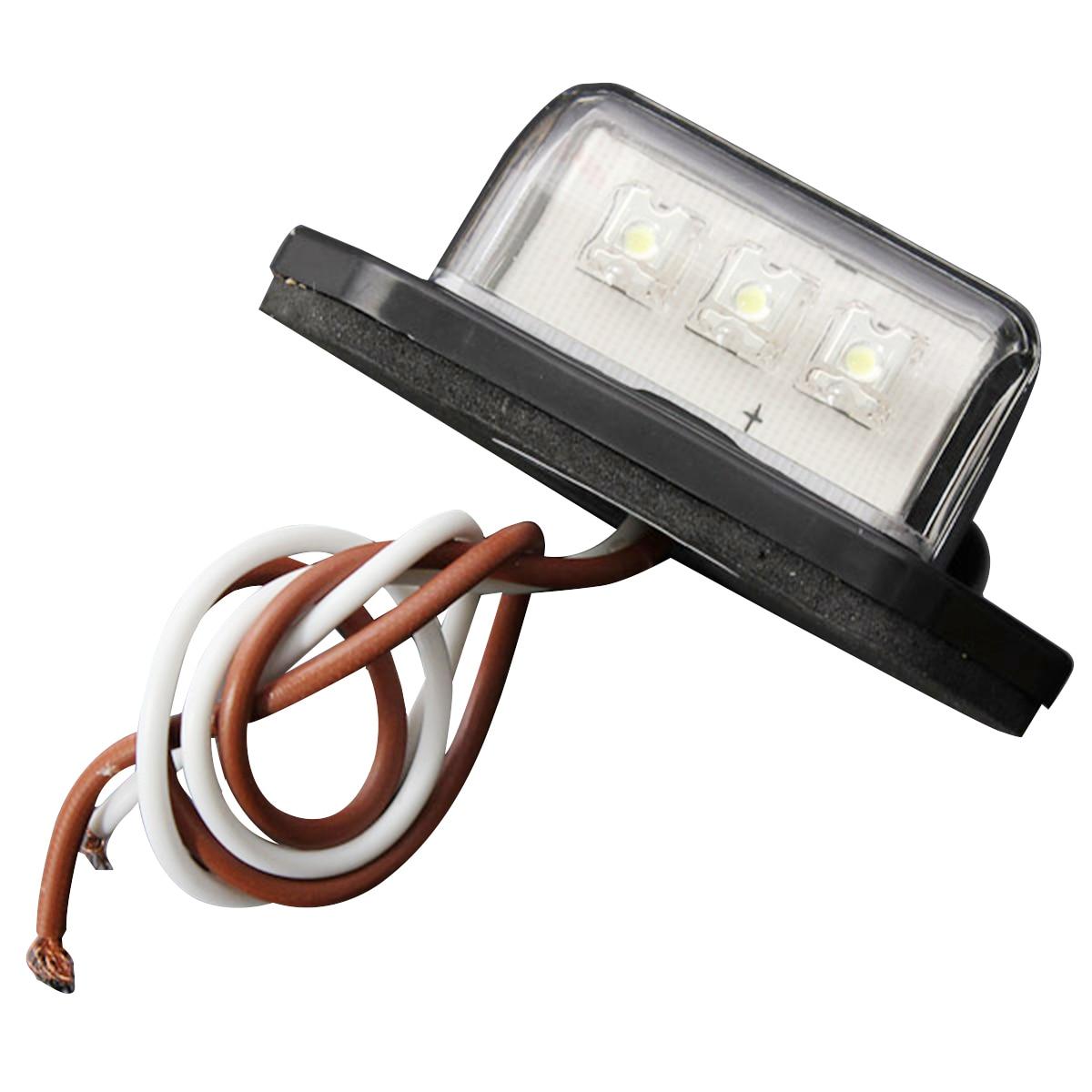 New 12/24V 3 LED LICENSE PLATE TAG LIGHT BOAT RV TRUCK TRAILER INTERIOR STEP LAMP smaart v 7 new license