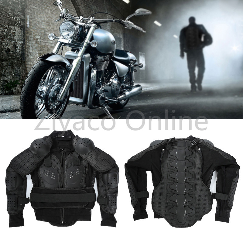 Black M XXXL Moto Motorcross Racing Motorcycle Body Protection Prevent Impact Armor Jackets Gear Spine Chest