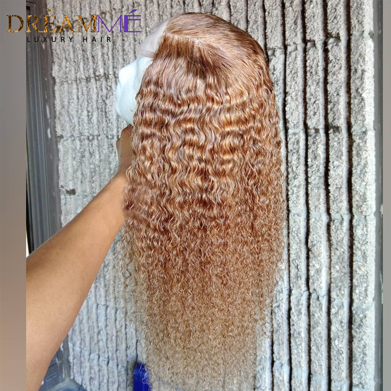 Image 4 - Honey Blonde Short Curly Human Hair Wig 13X6 Deep Part Lace Front Wig With Baby Hair Preplucked Glueless Remy Hair Colored Wigs-in Human Hair Lace Wigs from Hair Extensions & Wigs