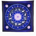 Sunfree 2017 HOT Constellation Square Decorative Tapestry Beach Throw Roundie Towel Yoga Mat Brand New High Quality Jan 20