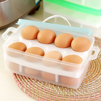 High Quality Eggs Storage Boxes Home Kitchen Food Preservation Storage Box Green Korean Style Built In