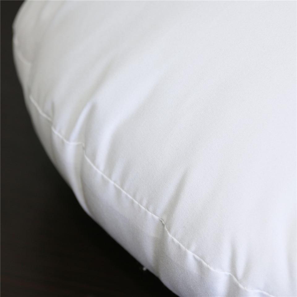 BeddingOutlet White Cushion Insert for Car Sofa Down Alternative Throw Pillow Core Inner Seat Cushion Filling 40-70cm Drop Ship