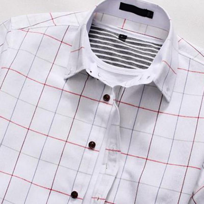 NIBESSER 2018 Brand Big Size Summer Mens Business Shirts Fashion Plaid Casual Shirt Men Short Sleeve Social Dress Shirts Homme