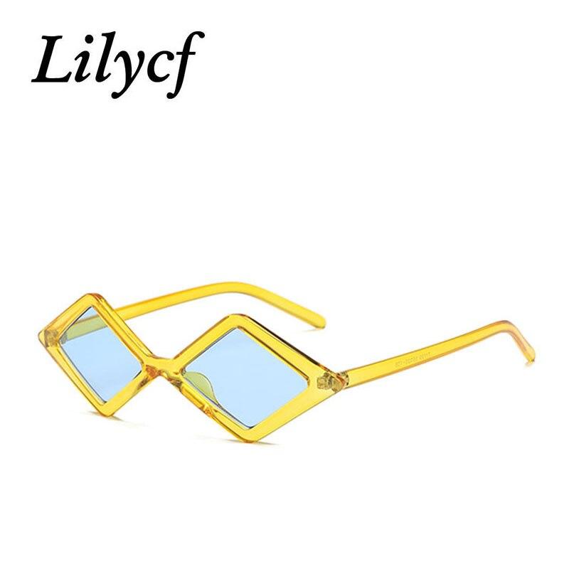 2019 Small Diamond Sunglasses Ladies Retro Trend Transparent Personality Women Brand Designer Sunglasses High Quality UV400