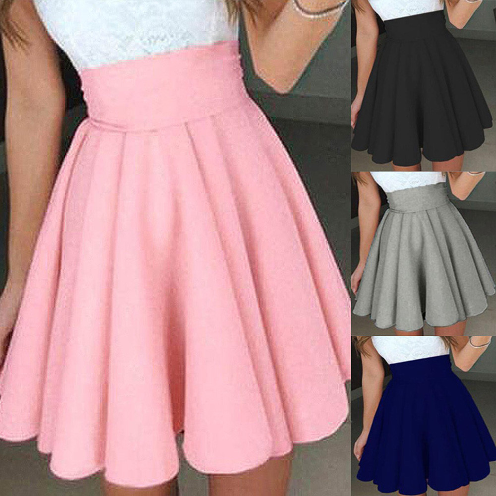 Womail Women Skirt Summer Fashion Party Cocktail Mini Skirt Ladies Summer Skater Skirt Casual Daily 2019 Dropship F8