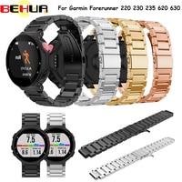 Watchband For Smartwatch Wrist Band Metal Stainless Steel Watch Band Strap Bracelet For Garmin Forerunner 220